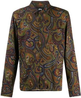 Stussy paisley print shirt