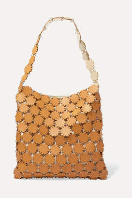 Paco Rabanne Blossom 1969 Laser-cut Leather And Canvas Shoulder Bag - Mustard