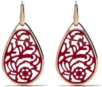 Pomellato 18kt rose gold Victoria rhodolite earrings