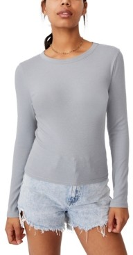 Cotton On Women's The Turn Back Long Sleeve Top