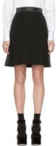 Dolce & Gabbana Black Logo Ribbon Miniskirt
