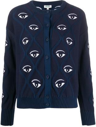 Kenzo Eye Pattern Cardigan
