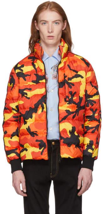 Valentino Orange Camo Down Jacket
