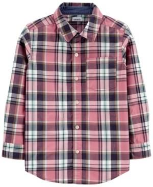 Carter's Little Boy Plaid Poplin Button-Front Shirt