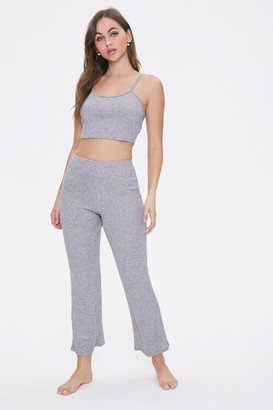 Forever 21 Ribbed Cami Pants Lounge Set