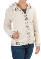 Laundromat Flower Wool Hoodie - Fleece Lined, Full Zip (For Women)