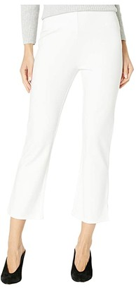 Lysse Cropped Kick Flare Pants in Lightweight Ponte (White) Women's Casual Pants