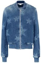 Stella McCartney denim star bomber jacket