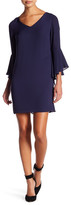 Laundry by Shelli Segal Bell Sleeve Shift Dress (Petite)