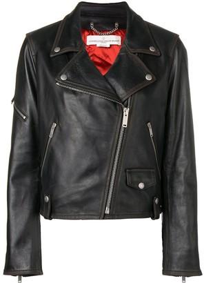 Golden Goose fitted biker jacket