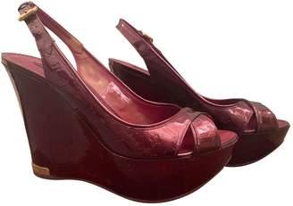 Louis Vuitton Purple Patent leather Sandals