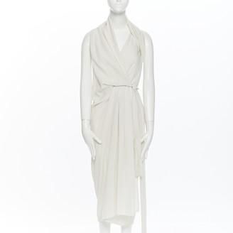 Rick Owens Ecru Silk Dresses