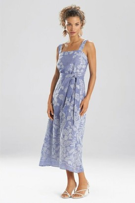 Natori Floral Embroidery Sundress