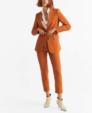 MANGO Belt Suit Blazer