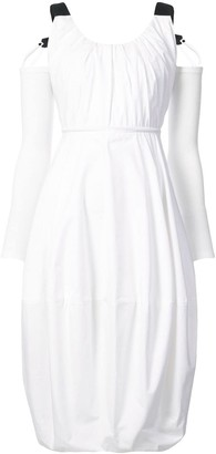 J.W.Anderson Cold-Shoulder Balloon Dress