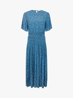 Monsoon Darcita Floral Maxi Dress, Blue