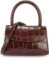 BY FAR Mini Crocodile-effect Top Handle Bag