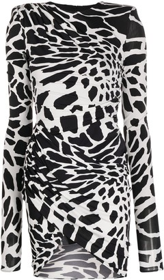 Alexandre Vauthier Abstract-Print Bodycon Dress