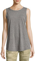 Current/Elliott The Cross-Back Muscle Tee, Gray