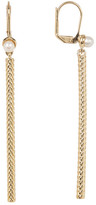 Cole Haan Freshwater Pearl Weave Bar Drop Earrings