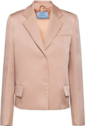 Prada Notch-Lapel Blazer Jacket