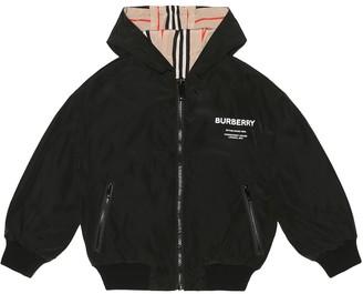 BURBERRY KIDS Reversible hooded bomber jacket