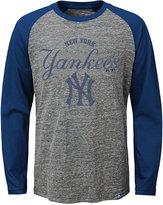 Majestic MajesticNew York Yankees Fast Win Raglan Long-Sleeve T-Shirt, Big Boys (8-20)