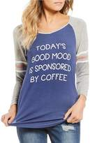 Moa Moa Today's Good Mood Is Sponsored By Coffee Raglan Tee