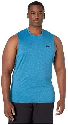 Nike Big Tall Pro Top Sleeveless Slim (Valerian Blue/Laser Blue/Black) Men's Clothing