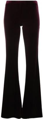 Antonella Rizza Flared Velvet Trousers