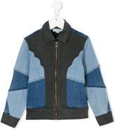 Stella McCartney color block denim jacket - kids - Cotton/Polyester/Spandex/Elastane/Viscose - 4 yrs