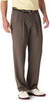 Haggar Cool 18 Pants - Classic Fit, Pleated Front, Hidden Expandable Waistband