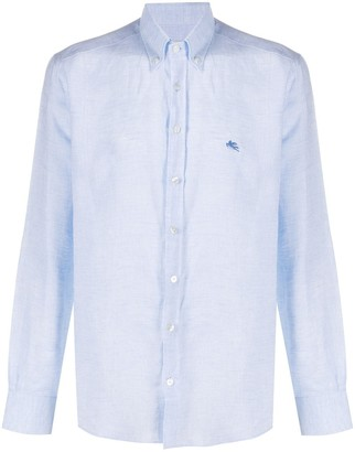 Etro Logo Embroidered Button-Down Shirt