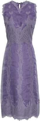 Valentino Paneled Silk-organza And Lace Midi Dress