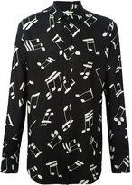 Saint Laurent musical note printed shirt