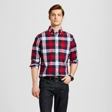 Merona Men's Plaid Long Sleeve Button Down Shirt