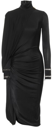Burberry Stretch-jersey turtleneck dress