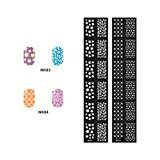 Reusable Stamping Tool DIY Nail Art Template Stickers Stamp Stencil Guide (NK03)