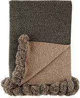Alicia Adams Alpaca Pom-Pom-Embellished Throw