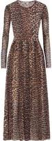 GANNI - Tilden Leopard-print Stretch-mesh Maxi Dress - Leopard print