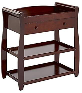 Babymore Sleigh Changer with Drawer (Brown)