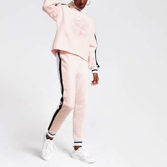 River Island Womens Pink Prolific embroidered joggers