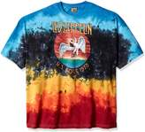 Liquid Blue Led Zeppelin Icarus 1975 Tie Dye T-Shirt -xxxl