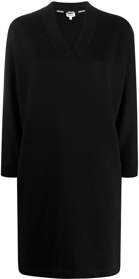 Kenzo Logo Print Sweat Dress