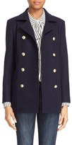 Frame Women's Double Breasted Wool Peacoat