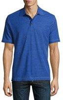 Robert Graham Messenger Heather Polo Shirt, Blue/Black