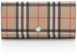 Burberry Halton Vintage Check Continental Wallet