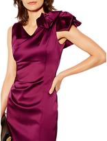 Karen Millen Couture Drape Signature Dress, Magenta