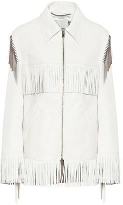 Stella McCartney Fringed faux-leather jacket