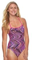 TYR Women's Glitch Crosscutfit Abstract One-Piece Swimsuit